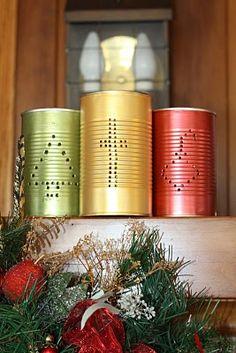 Life At Willow Cottage: Tin Can Luminaries