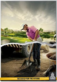 golfer Tal'at Mustapha Construction
