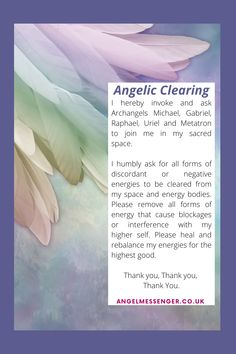 Use the following to help you clear your energies. Angel Readings, Psychic Readings, Free Angel, Angel Guide, Spiritual Coach, Angel Numbers, Archangel Michael, Spiritual Development, Guided Meditation