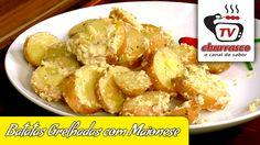 Receita de Batatas Grelhadas com Maionese - Tv Churrasco