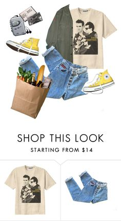 """at the supermarket"" by duderanch ❤ liked on Polyvore featuring Retrò, Converse, Sony, indie, Punk, grunge, art and aesthetic"