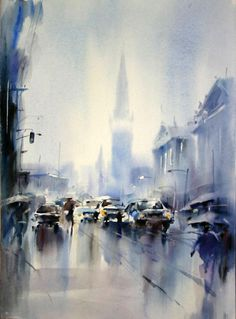 Watercolor by Cao Beian