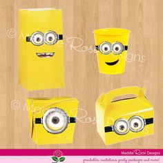 Despicable Me Party Favors Festa Party, I Party, Party Time, Party Favors, Party Ideas, Minion Theme, Minion Birthday, Boy Birthday, Birthday Ideas
