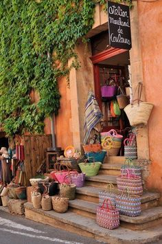 France Travel Inspiration - Shopping in cute store in Antibes, France