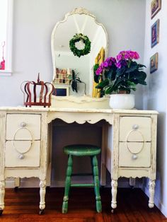 D.D.'s Cottage and Design: Vanity Dressed in White
