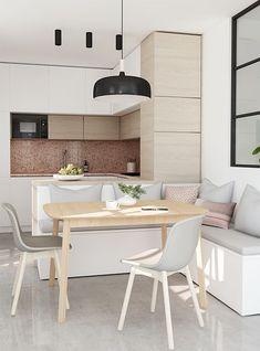 Come arredare un soggiorno piccolo con angolo cottura | For the Home ...
