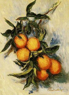 Oranges sur une branche (C Monet - W 887), 1884