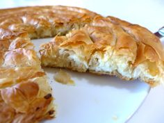 Greek 'snail'-shaped Cheese pie recipe