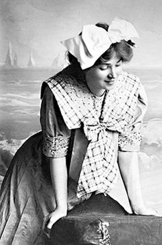 Victorian Bathing Suits :: posing in a photographer's studio :: visit our website at http://www.ocean-grove-nj.com