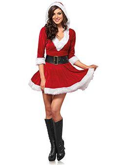 72b2817692b Amazon.com  Leg Avenue Women s 2 Piece Mrs. Claus Costume  Clothing