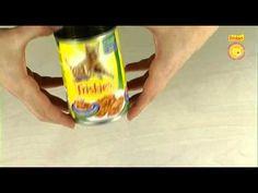 riciclo oggetti - portapenne con una latta per cibo da gatti