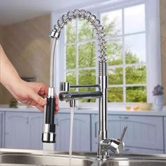 Best Quality Elastically Single Handle One Hole Double Sprayer Unique Discount Kitchen Faucets Design Ideas
