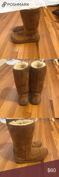 Classic Tall UGG boots in Chestnut Still have lots of life, awesome condition! UGG Shoes