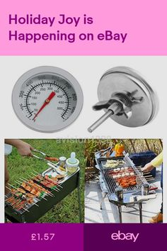 New Stainless Steel BBQ Grill Barbecue Smoker Pit Cooking Thermometer UK Barbecue Smoker, Grilling, Kebab Sticks, Stainless Steel Bbq Grill, Camping Bbq, Charcoal Bbq, Cooking On The Grill, Patio