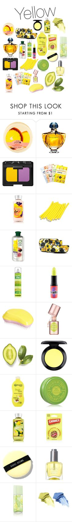 """""""Yellow beauty - All Yellow Everything Contest"""" by kentigerna on Polyvore featuring bellezza, Guerlain, NARS Cosmetics, Therapy, Herbal Essences, Ivanka Trump, MAC Cosmetics, Tangle Teezer, Benefit e Fraiche"""
