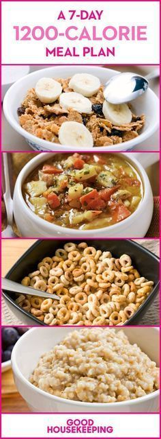 A 7-Day 1200-Calorie Meal Plan #1200calorievegetariandiets