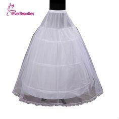 In Stock 2016 Hot Sale 3 Hoop Ball Gown Bone Full Crinoline Petticoats For Wedding Dress Wedding Skirt Accessories Slip