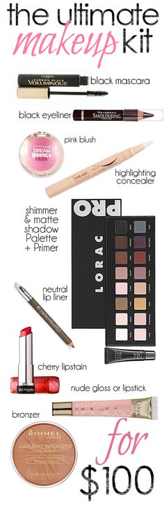 Perfect kit for getting started with makeup, and the looks to go with it!