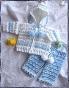 Resultado de imagen para saquito a crochet para bebe recien nacido paso a paso