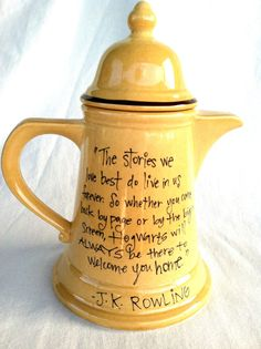 J.K. Rowling Quote on Teapot