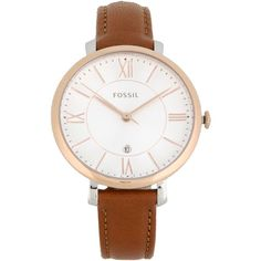 Fossil Wrist Watch ($115) ❤ liked on Polyvore featuring jewelry, watches, brown, fossil jewellery, brown jewelry, fossil wrist watch, fossil jewelry and fossil watches