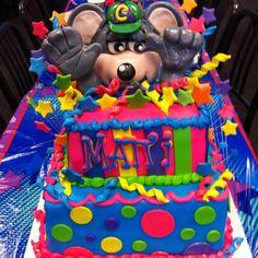 Chuck E Cheese theme birthday cake Happy Birthday Antonio