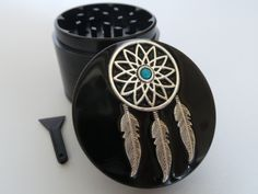Dreamcatcher Aluminium Herb Weed Tobacco Grinder by Planetbear on Etsy