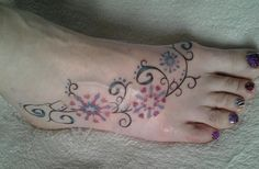 This is my foot Tat and I love it  :) No pain no gain lol x