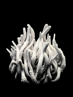 Available for sale from NOX Contemporary Gallery, Tzuri Gueta, Coral Weiss Silicon injected into textile, 40 × 45 cm Sculpture Art, Sculptures, Coral, Fashion Forecasting, Body Adornment, Art Design, Interior Design, Fabric Art, Octopus