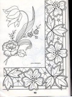 A adapter au pergamano Floral Embroidery Patterns, Cutwork Embroidery, Lace Patterns, Hand Embroidery Designs, Vintage Embroidery, Embroidery Stitches, Quilt Patterns, Machine Embroidery, Lace Painting