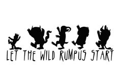 Where The Wild Things Are Decal Let the Wild Rumpus by Stickernaut, $5.99