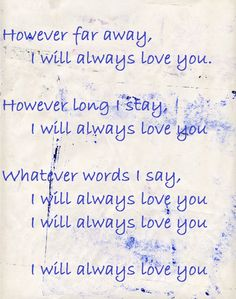 The Cure - Lovesong...another of my favorite songs from way back when....makes me think of you when I hear it. I miss you baby