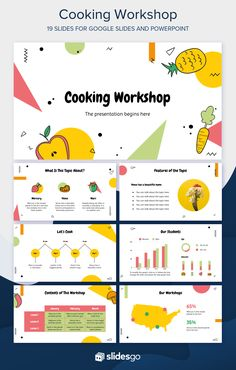 Create a tasty cooking workshop and delight your audience with this Memphis Google Slides and PowerPoint presentation, 100% free! #Slidesgo #FreepikCompany #freepresentation #freetemplate #presentations #themes #templates #GoogleSlides #PowerPoint #GoogleSlidesThemes #PowerPointTemplate #Cooking #Workshop Cute Powerpoint Templates, Template Brochure, Flyer Template, Design Presentation, Presentation Templates, Presentation Folder, Graphic Design Brochure, Graphic Design Posters, Slide Design