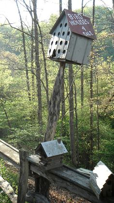 Bird houses for sale at Cavender Creek Cabins, Dahlonega.