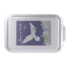 Peace On Earth Dove Cake Pan http://www.zazzle.com/peace_on_earth_dove_cake_pan-256833824408165254?rf=238271513374472230  #christmas  #christmasdécor