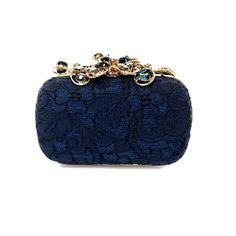 Nina Ricci beautiful navy blue clutch