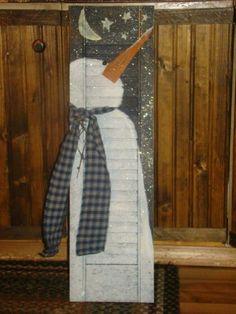 Snowman shutter...
