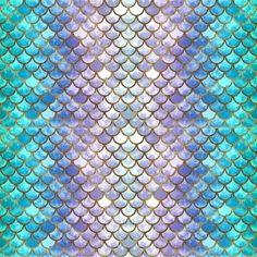 Pretty Mermaid Scales Duvet Cover