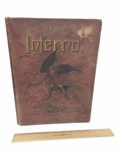The INFERNO Dante Antiquarian Oversize book 1885? Gustave Dore Collier Cary
