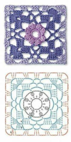 Transcendent Crochet a Solid Granny Square Ideas. Inconceivable Crochet a Solid Granny Square Ideas. Crochet Motif Patterns, Crochet Blocks, Granny Square Crochet Pattern, Crochet Diagram, Crochet Chart, Crochet Squares, Crochet Granny, Crochet Designs, Granny Squares