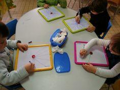 La classe de Moyenne Section - Les traits droits obliques