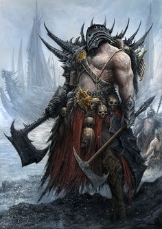 """Tagged with gaming, warhammer, dump, warhammer fantasy, age of sigmar; Shared by """"What I like best about a siege is that there is nowhere for them to run. Dark Fantasy Art, Fantasy Armor, Medieval Fantasy, Fantasy Monster, Monster Art, Warhammer Fantasy, Fantasy Character Design, Character Art, Rpg Cyberpunk"""