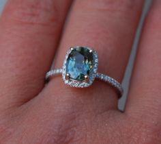1.86ct Cushion Peacock blue color change sapphire by EidelPrecious