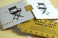 Wedding Cinema Invitation • Céline & Alexandre by L'Atelier d'Elsa • Wedding Card Designer, via Flickr