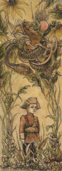 Fairytale inspired drawings by Jeremy Hush - Bleaq Fractured Fairy Tales, Fairytale Art, Lowbrow Art, Pen And Watercolor, Pop Surrealism, Hush Hush, Illustrators, Cool Art, Art Drawings