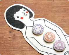Mademoiselle Fabric Covered Buttons by MemiTheRainbow on Etsy