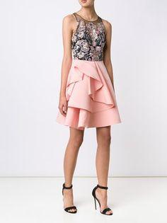 Marchesa Notte Kleid mit besticktem Top