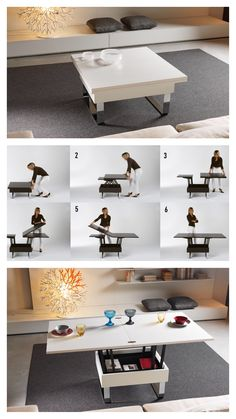 Convertible Coffee/Dining Table - iMultifunzione Small