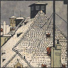Broncia Koller-Pinell, Das große Dach / The Big Roof, c. 1903, © Kunstsammlung und Archiv der Universität für angewandte Kunst Wien #KunstFürAlle
