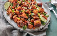Sweet potatoes provide gorgeous orange color and a boost of nutrition to this favorite brunch side dish. Make it spicy or mild to suit your tastes by adjusting the amount of jalapeño. Toss leftovers with baby arugula and sliced red onions for a satisfying salad the next day.